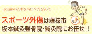 スポーツ外傷は藤枝市坂本接骨院・鍼灸院にお任せ!!