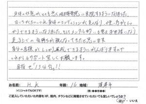 スポーツの怪我 焼津市16歳男性の口コミ